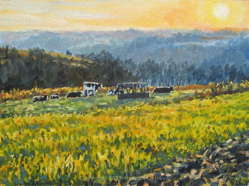 """Little Herd"" original fine art by Hannah C. Heyer"