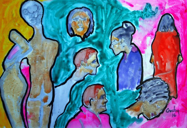 """Show Prep"" original fine art by Donna Crosby"