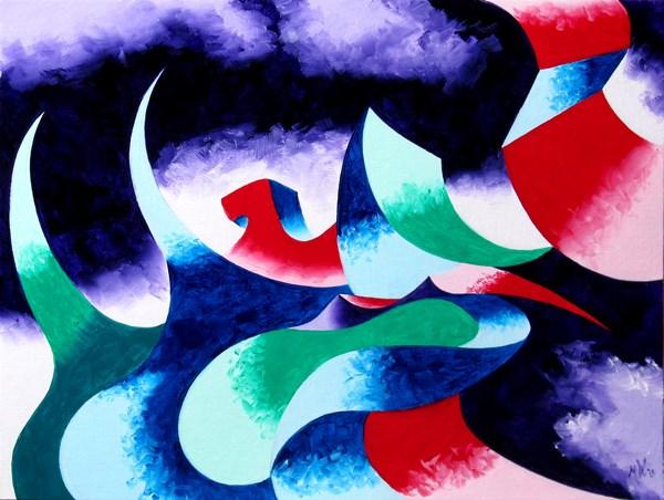"""Mark Webster - Abstraction 26 - Abstract Landscape Oil Painting"" original fine art by Mark Webster"
