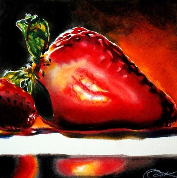"""Luminous Berry"" original fine art by Crystal Cook"