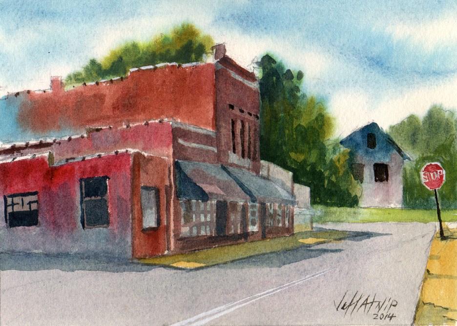 """Lynchburg Street"" original fine art by Jeff Atnip"