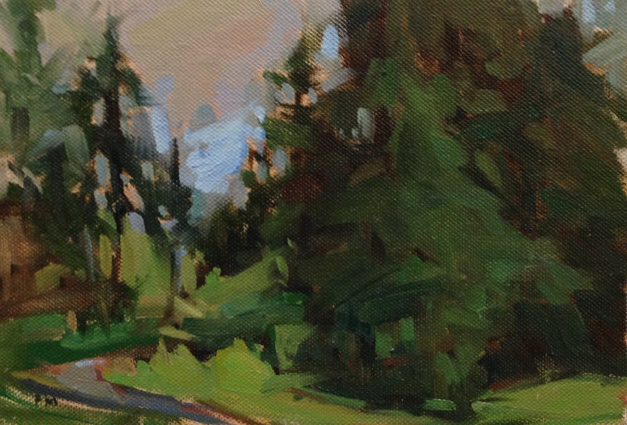 """The Friendly Trees"" original fine art by Patti McNutt"