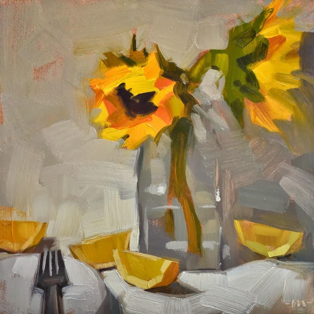 """Sunshine and Lemonaide"" original fine art by Carol Marine"
