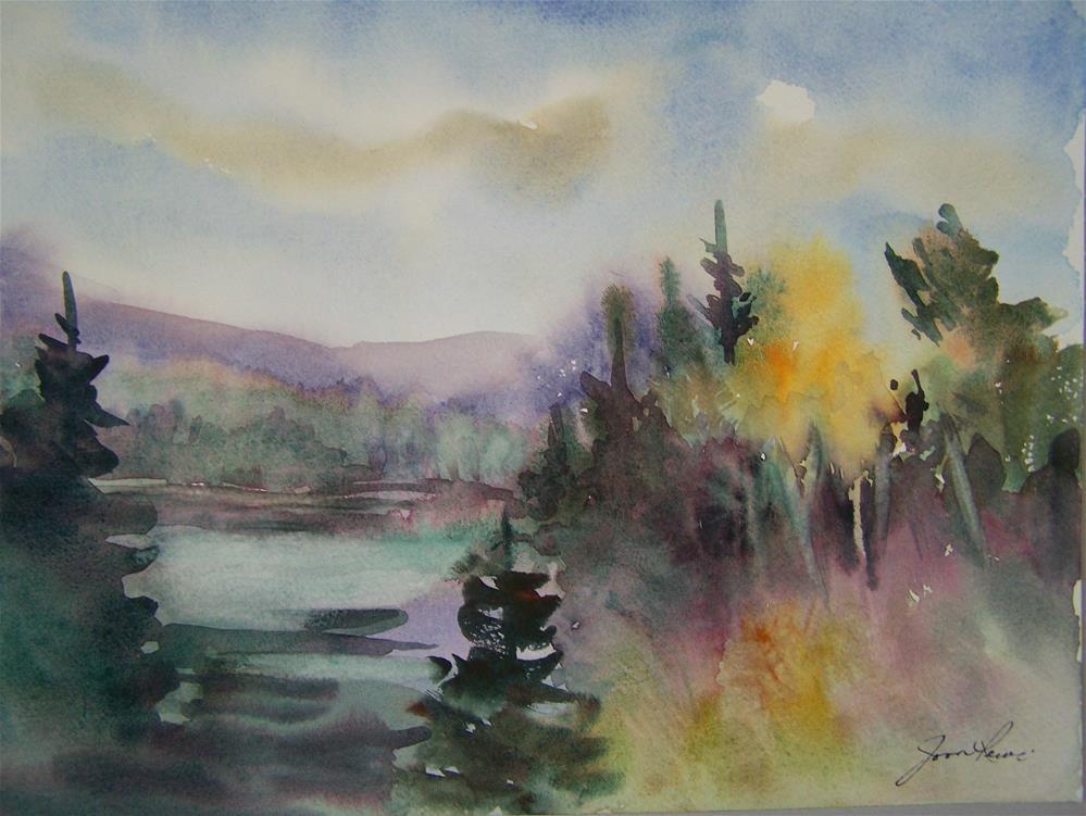 """""""Fall Mist"""" original fine art by Joan Reive"""