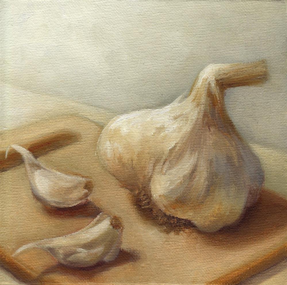 """""""Garlic"""" original fine art by Anne Ducrot"""