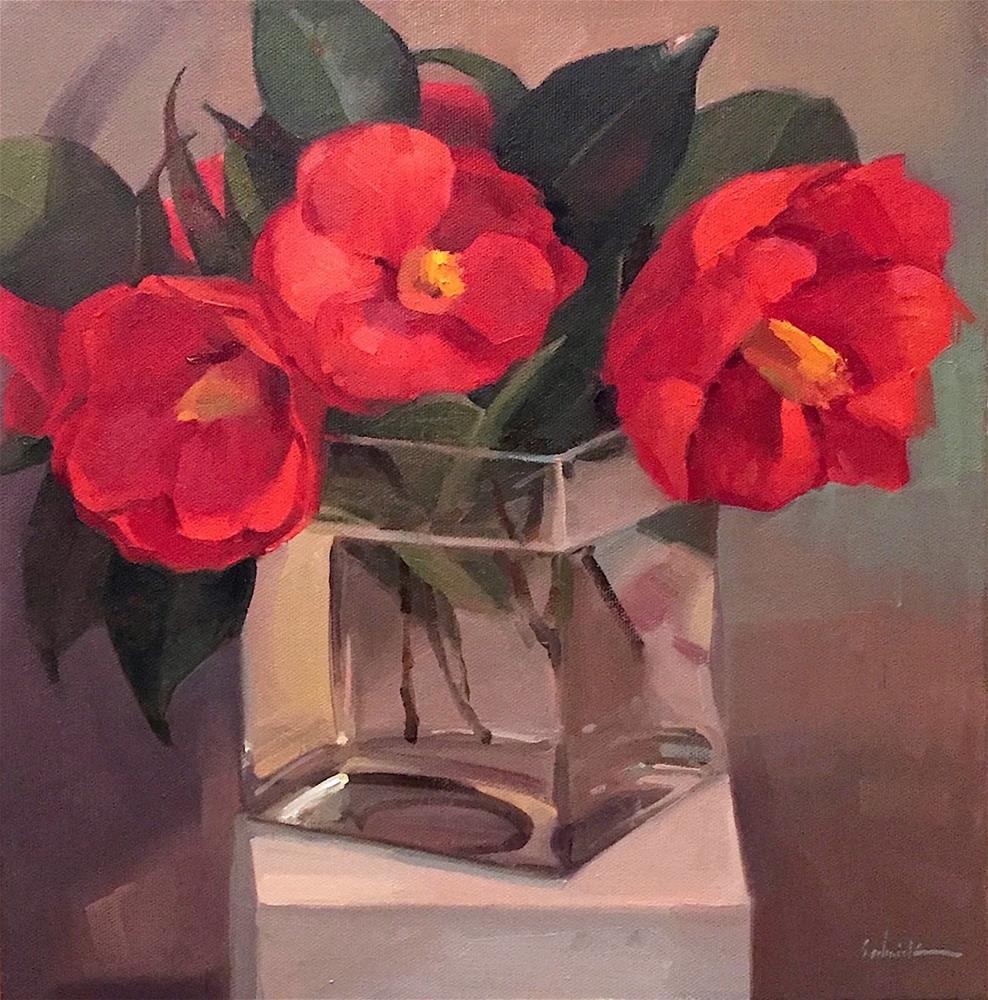 """""""Big Reds"""" original fine art by Sarah Sedwick"""