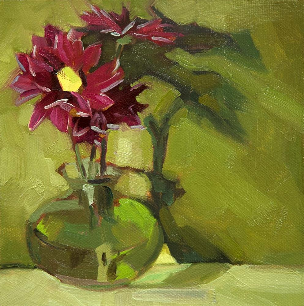 """Mums"" original fine art by Miriam Hill"