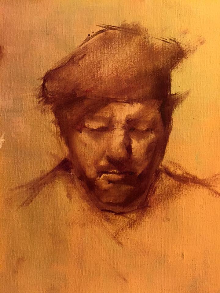 """head study"" original fine art by Pragya Tiwari"