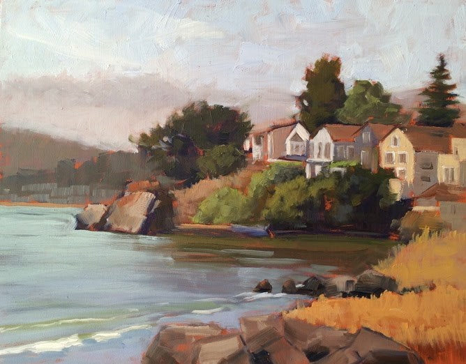"""The Cove"" original fine art by Deborah Newman"