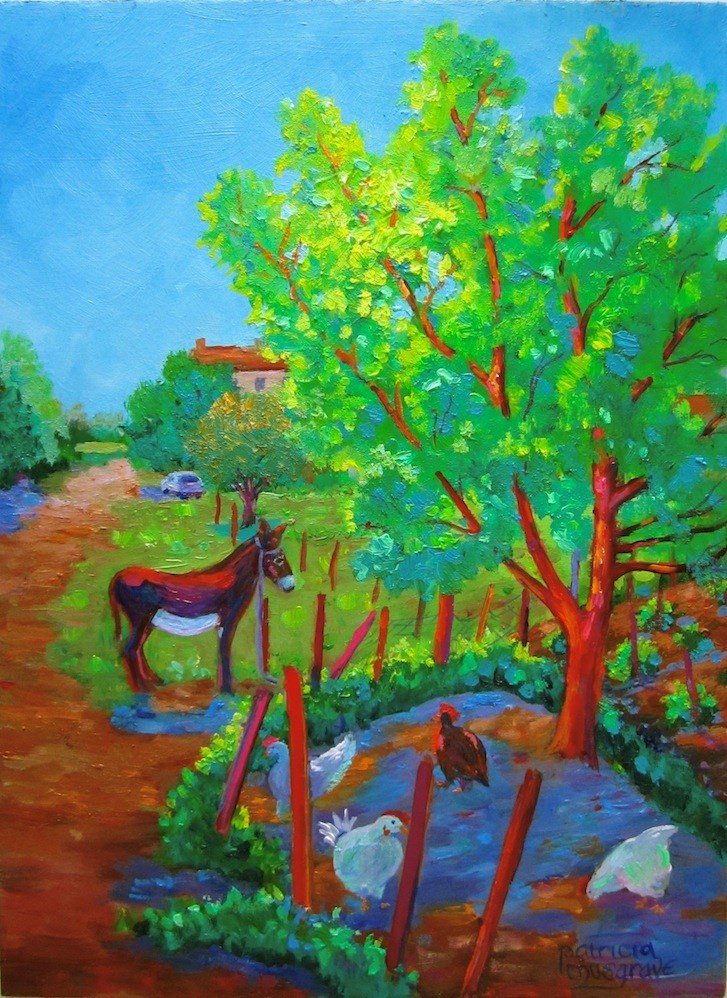 """""""A Day in the Country"""" original fine art by Patricia Musgrave"""