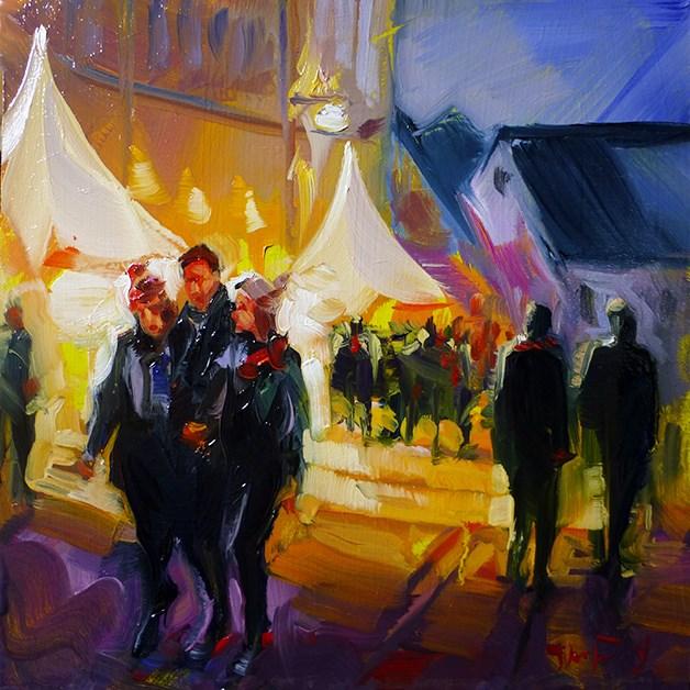 """""""Auf dem Markt"""" original fine art by Jurij Frey"""