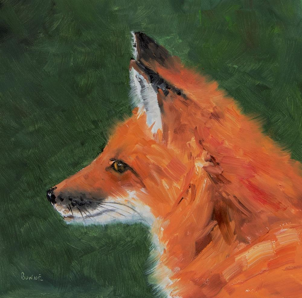 """Foxy Lady"" original fine art by Bonnie Bowne"