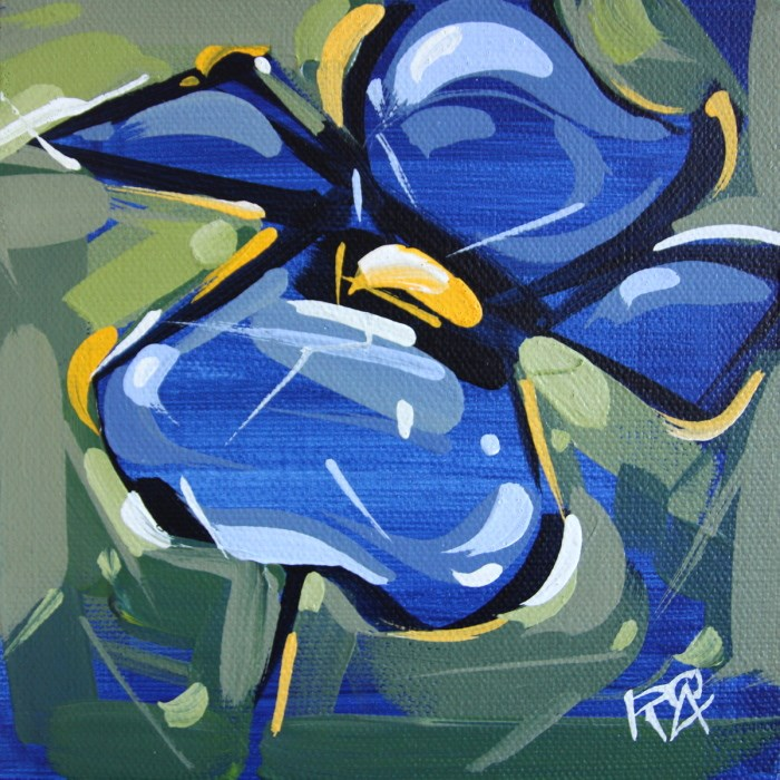 """""""Flower Abstraction 115"""" original fine art by Roger Akesson"""