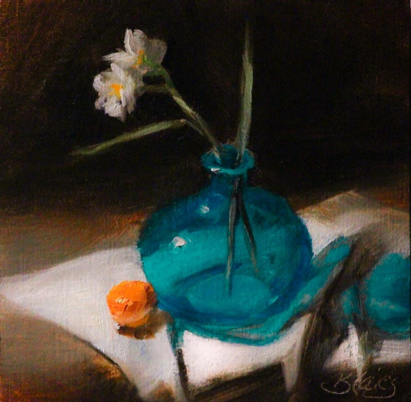 """Little Orange Cutie"" original fine art by Pamela Blaies"