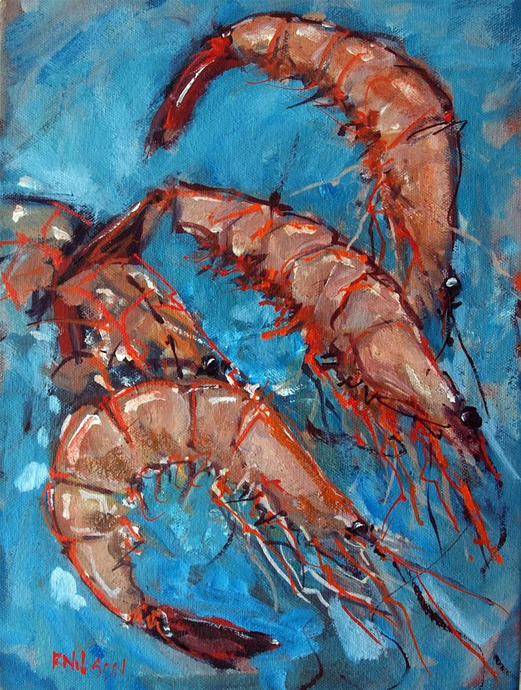"""Shrimp"" original fine art by Rick Nilson"