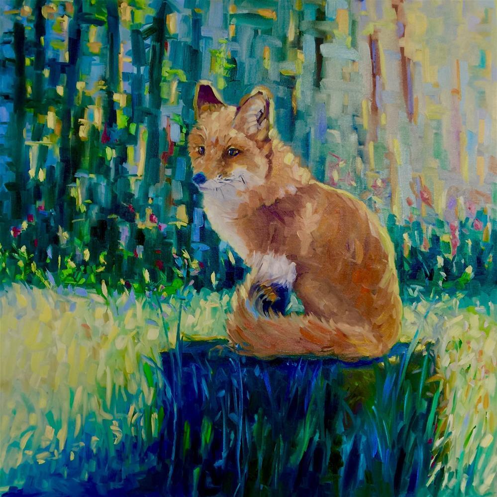 """Red Fox"" original fine art by Mb Warner"