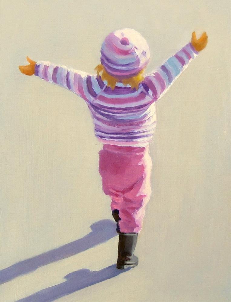 """""""Hello World"""" original fine art by Karen Johnston"""