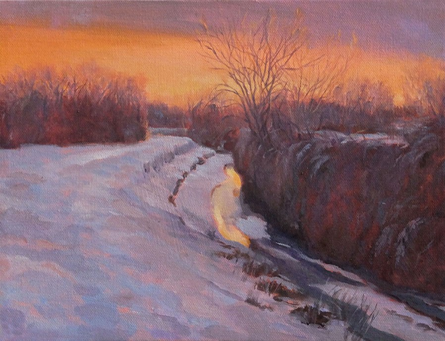 """Last of a December Day"" original fine art by Shawn Shea"