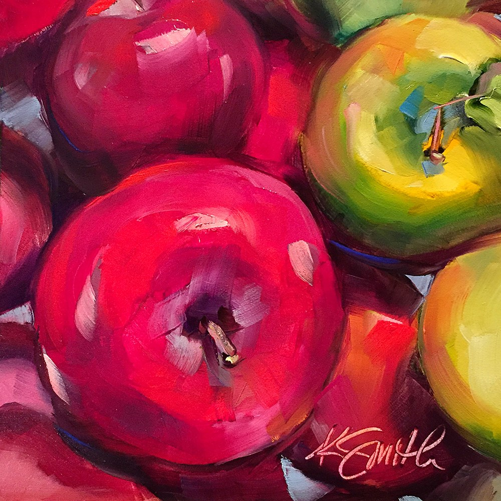 """the apple of my eye"" original fine art by Kim Smith"