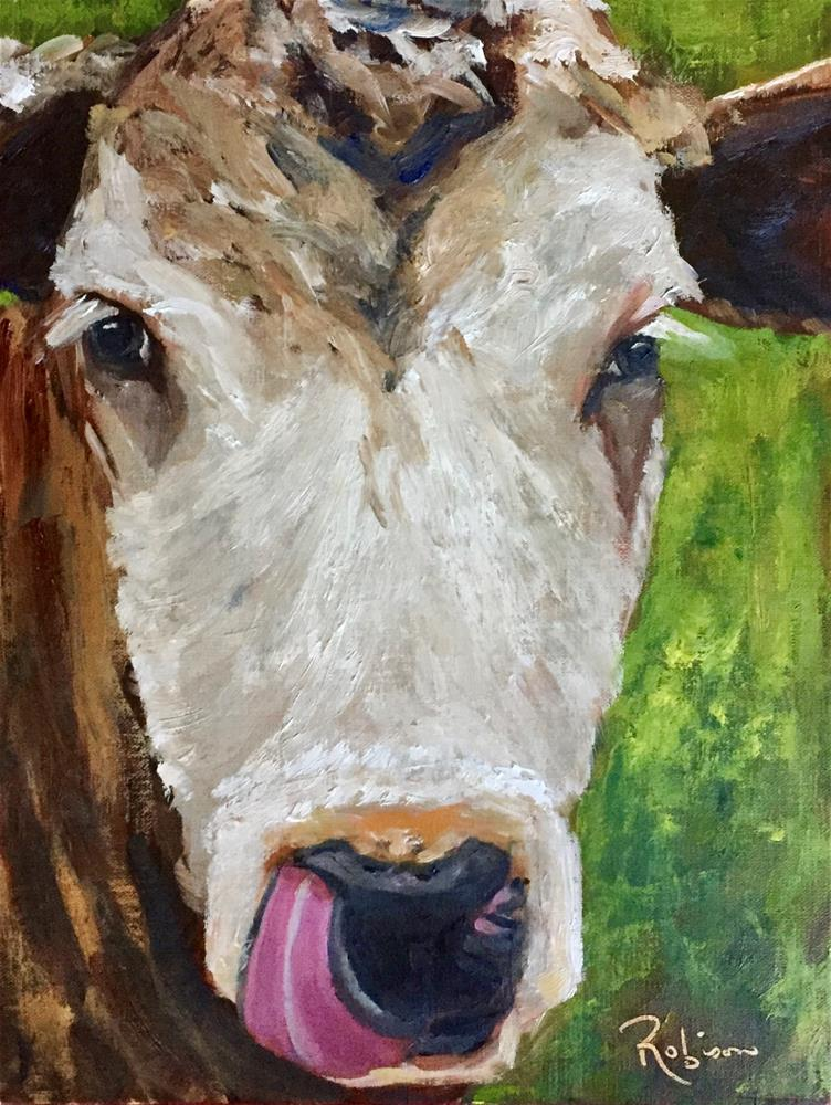 """That's Yummy"" original fine art by Renee Robison"
