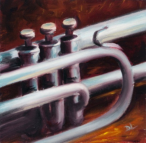 """Jazz it Up #1215"" original fine art by Dee Lessard"