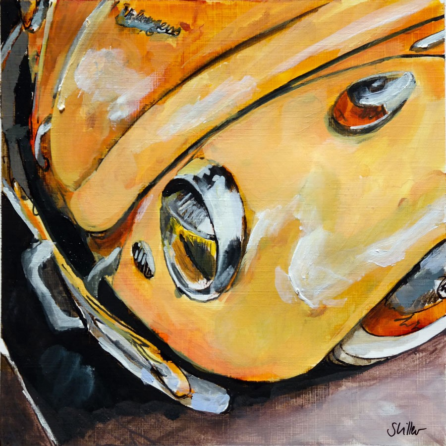 """2775 Orange Bug"" original fine art by Dietmar Stiller"
