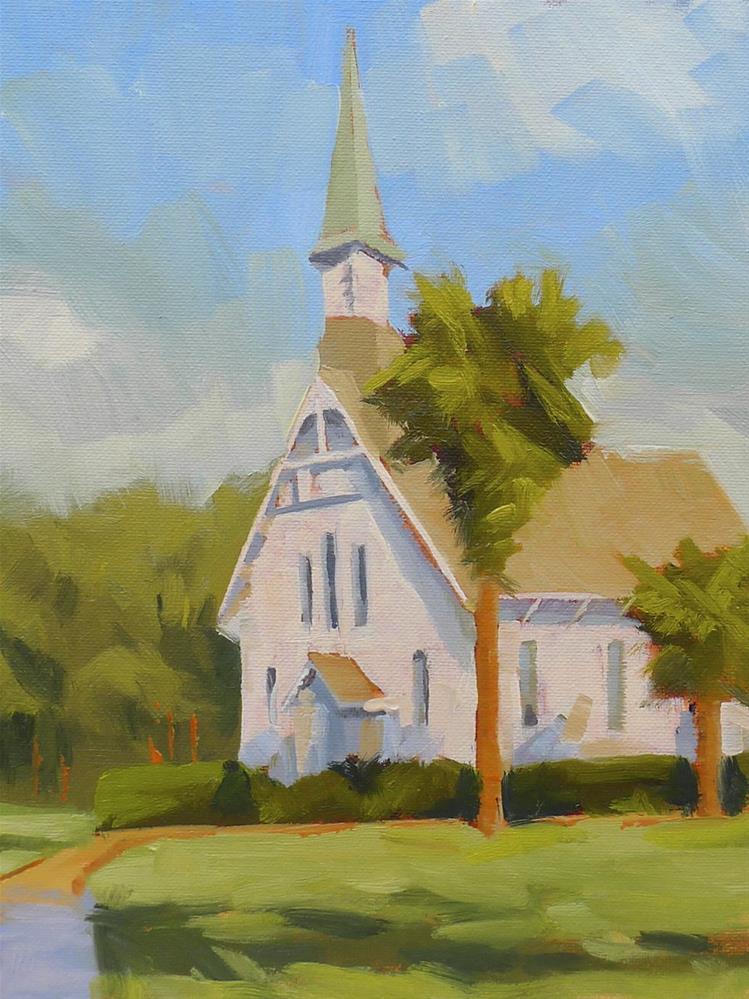 """Lovely Lane Chapel"" original fine art by Adam Houston"