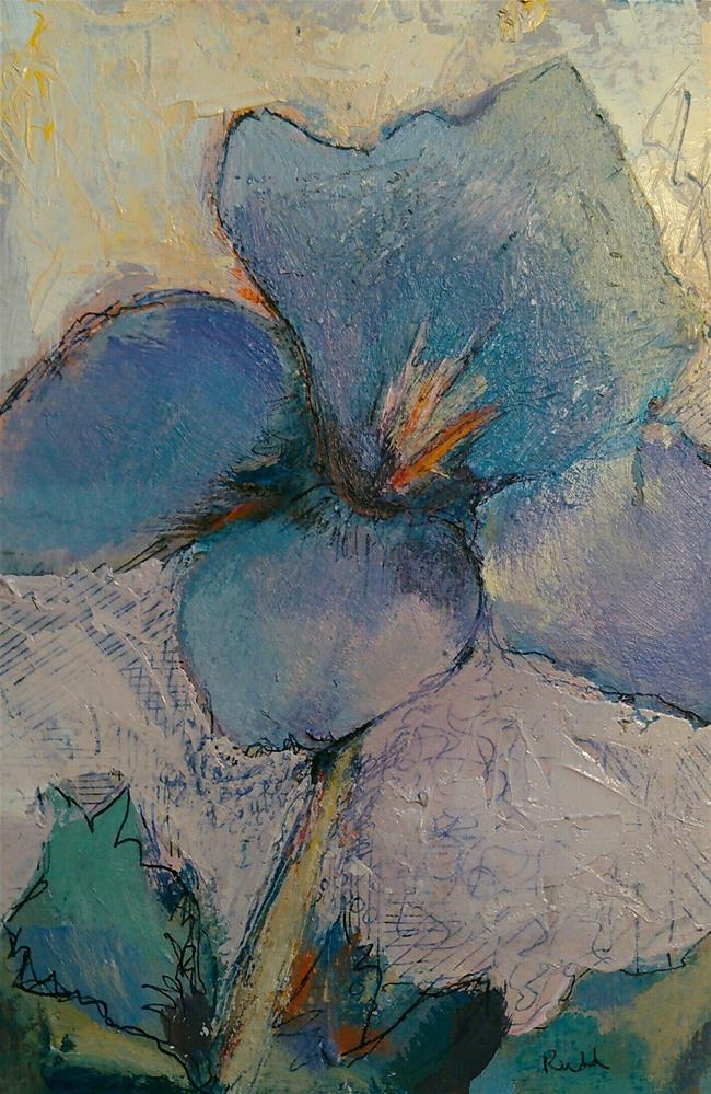 """Floral July"" original fine art by Ann Rudd"