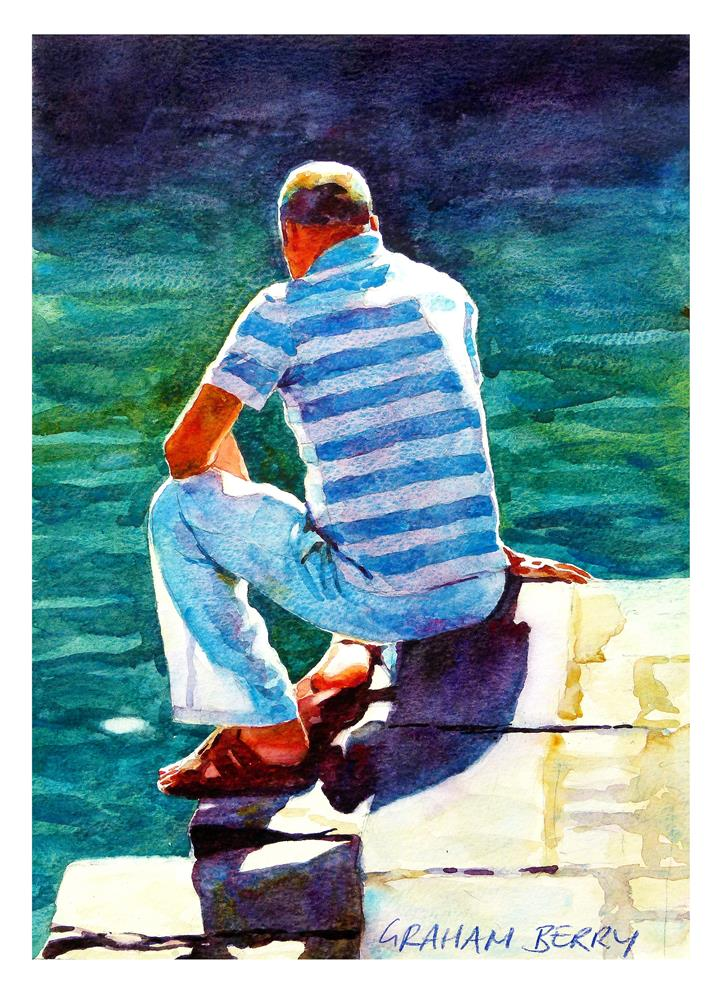 """Sit and ponder."" original fine art by Graham Berry"
