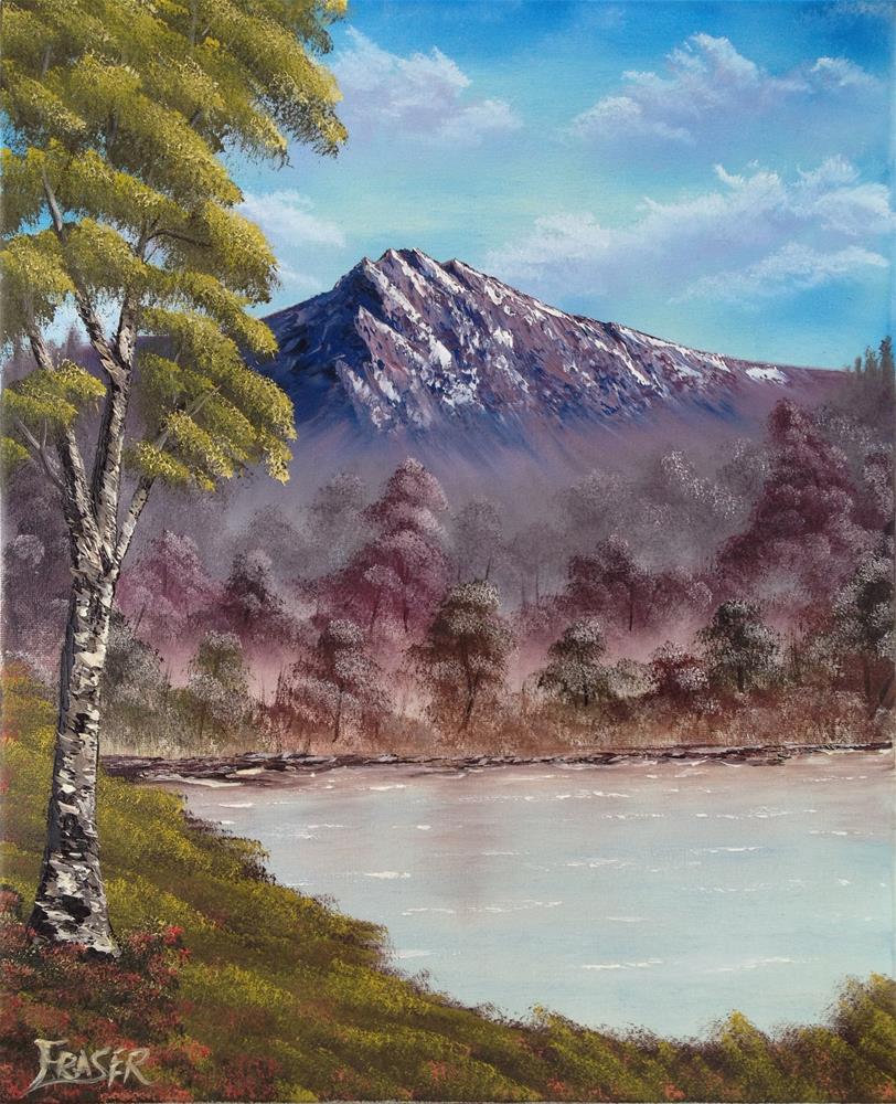 """Mountain Lake"" original fine art by Ken Fraser"