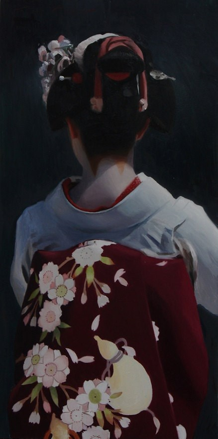 """The Scarlet Fringe (Katsuhina)"" original fine art by Phil Couture"
