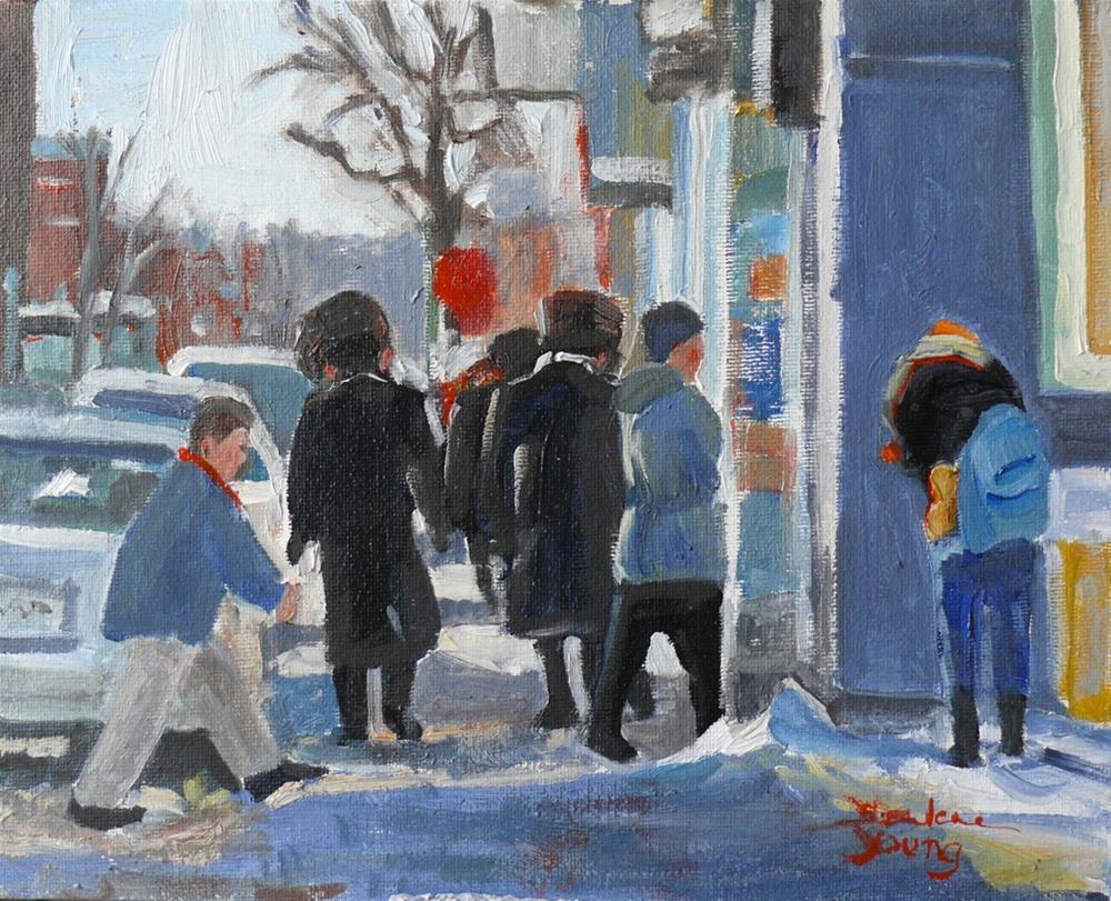 """926 Montreal Winter Scene, oil on board, 8x10"" original fine art by Darlene Young"