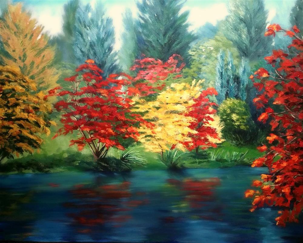 """Autumns Show"" original fine art by Dana C"