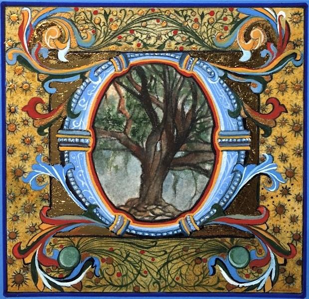 """Oak"" original fine art by Patti Adams"