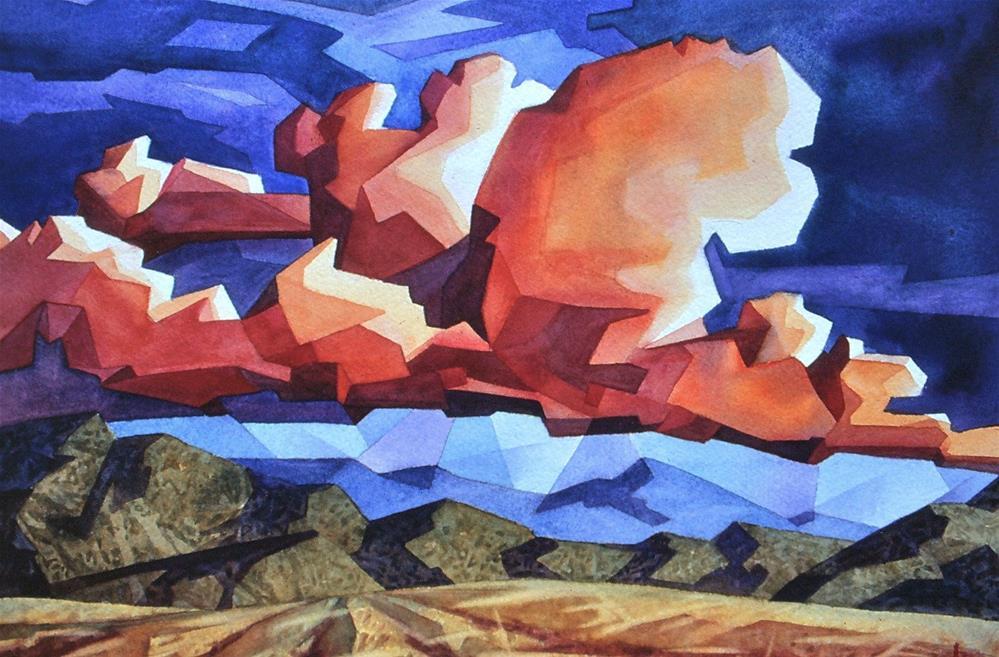 """Red Cloud"" original fine art by Mark Allison"