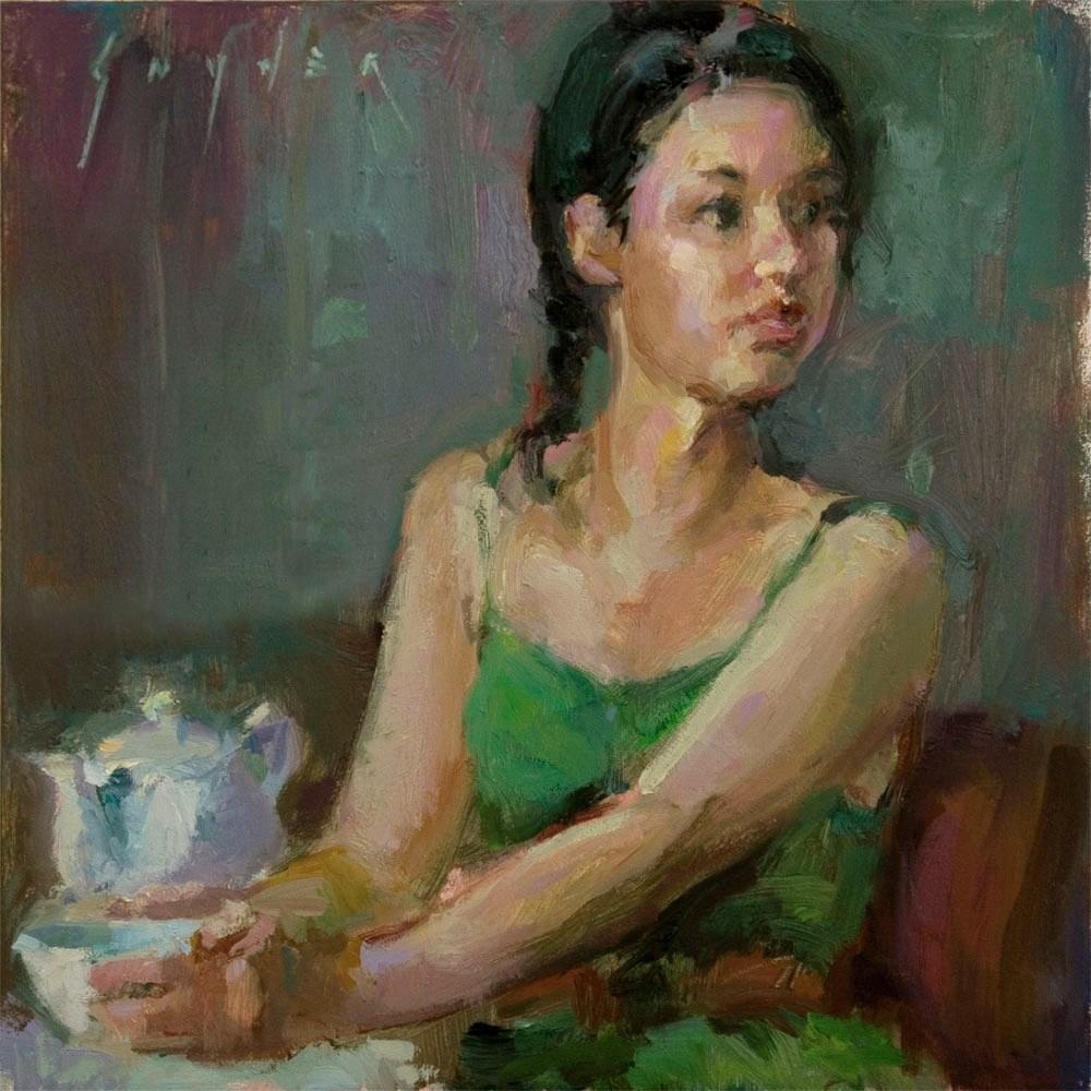 """Breakfast Cuppa"" original fine art by Julie Snyder"