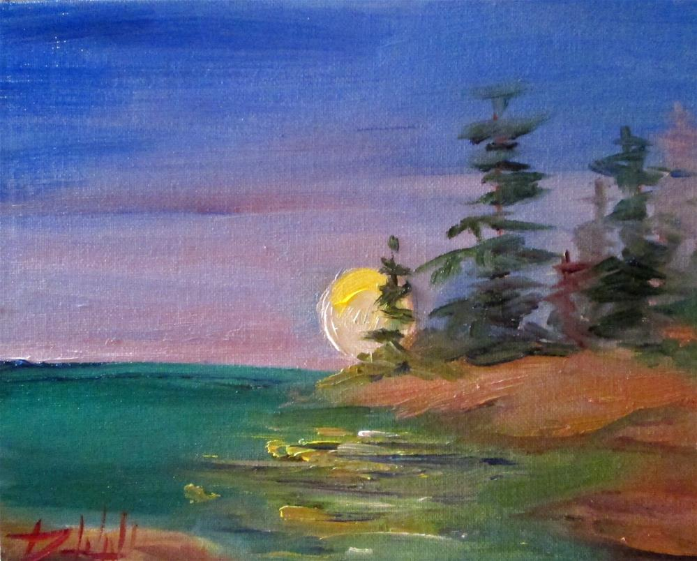 """Moon Rising"" original fine art by Delilah Smith"
