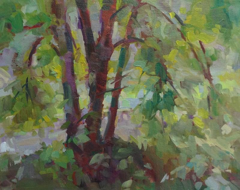 """""""Riverbend"""" original fine art by Patti McNutt"""