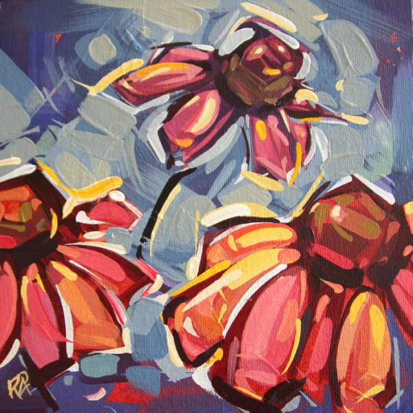 """Flower Abstraction 197"" original fine art by Roger Akesson"