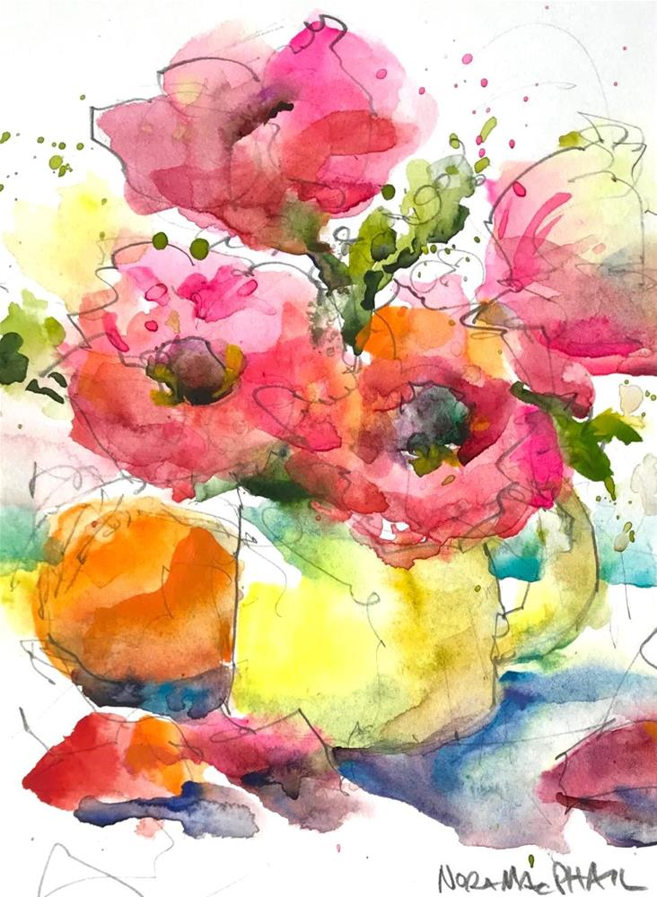 """spring petals"" original fine art by Nora MacPhail"