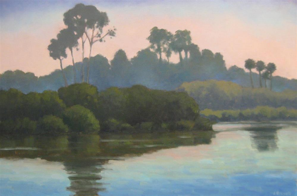 """""""Late Afternoon at the Bird Refuge"""" original fine art by Jennifer Boswell"""