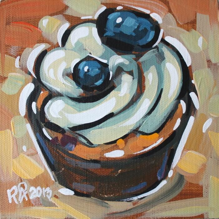 """Cupcake 21"" original fine art by Roger Akesson"