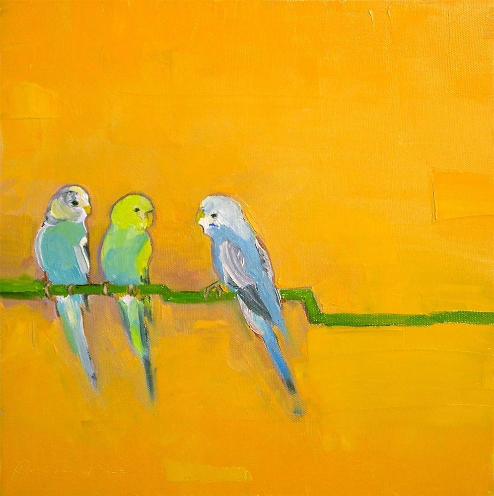 """""""Let's Talk"""" original fine art by Donna Walker"""