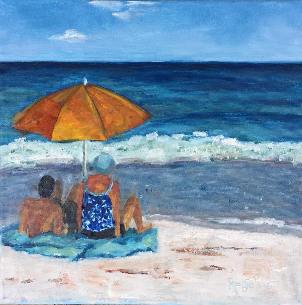 """Wave Watchers"" original fine art by Renee Robison"