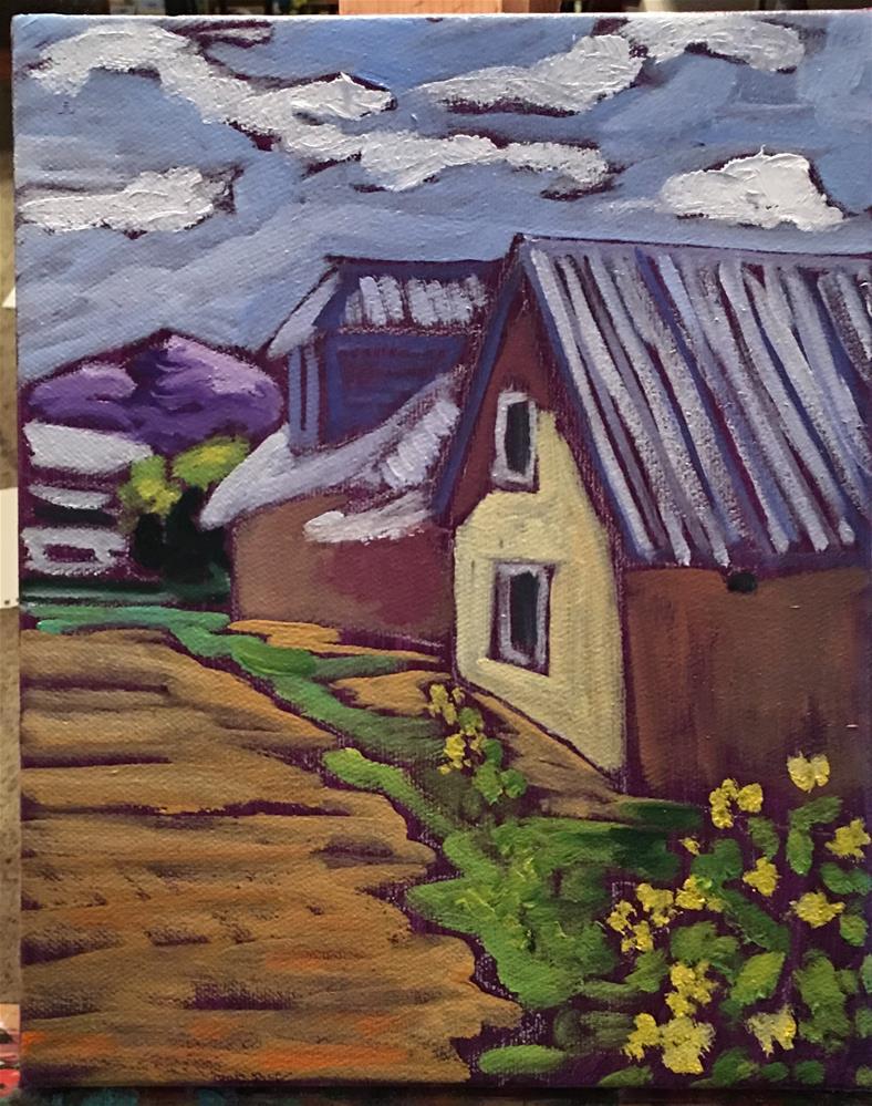 """""""Truchas Quiet"""" original fine art by Robyn Wellman"""