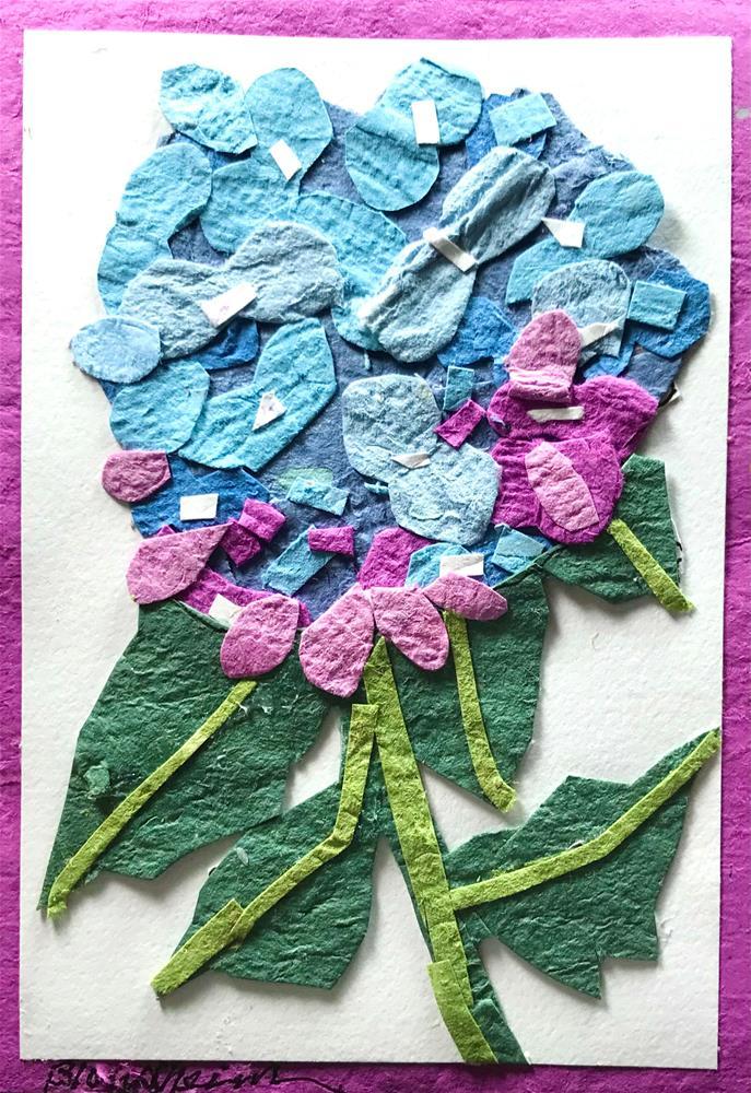 """""""Hydrangeas"""" original fine art by Linda Blondheim"""