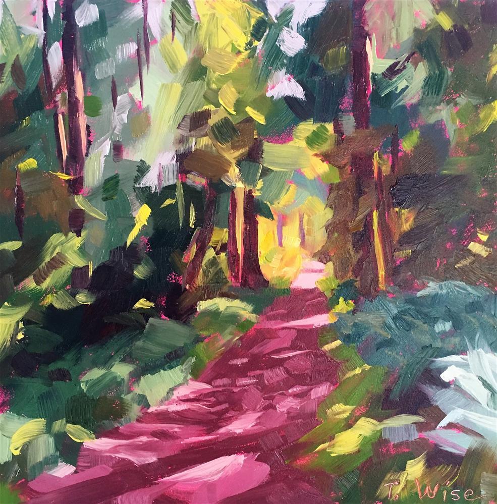 """Forest Door"" original fine art by Tracy Wise"