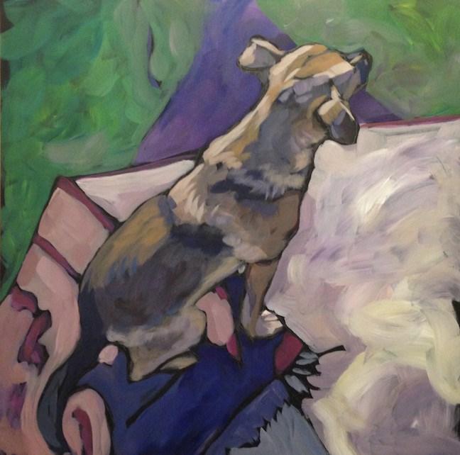 """""""Pink Rug"""" original fine art by Kat Corrigan"""