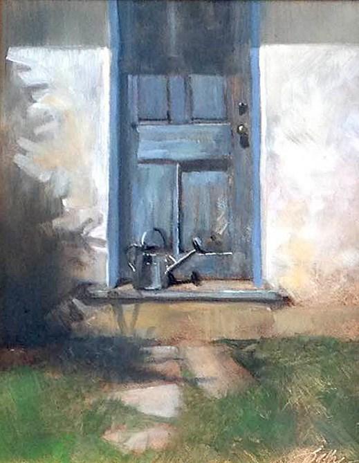 """Watering Can"" original fine art by Beth Bathe"