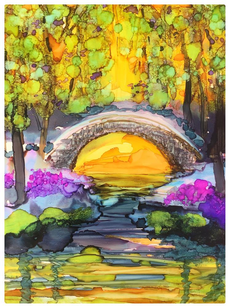 """Stone Bridge Morning"" original fine art by Kelly Alge"